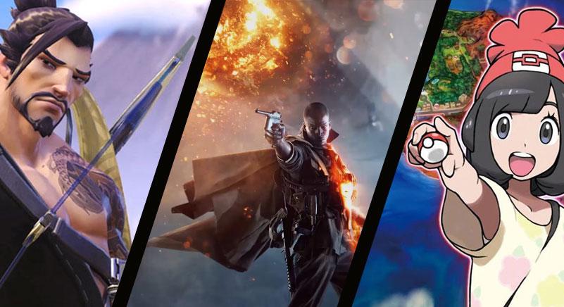 melhores trailers de games de 2016