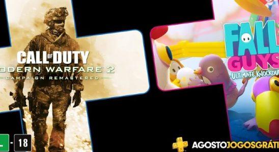 COD e Fall Guys na PS Plus de agosto