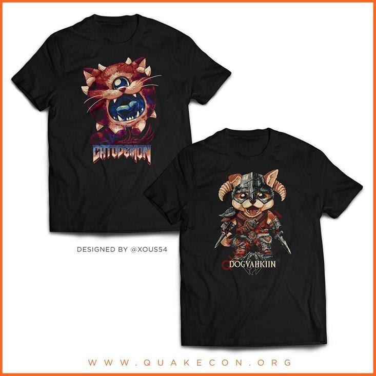 Camisetas da QuakeCon 2020