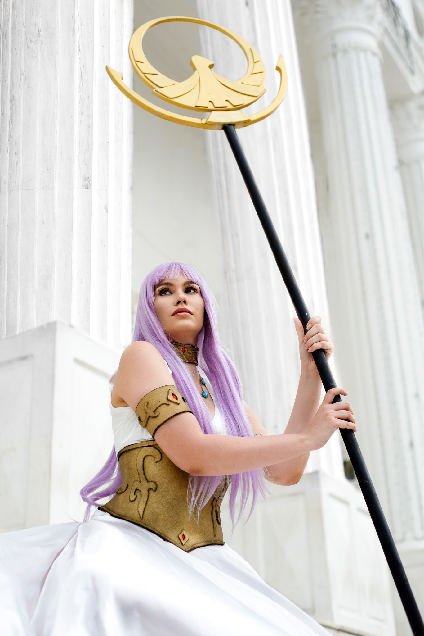 Cosplay Saori Kido/Athena -Cavaleiros do zodíaco