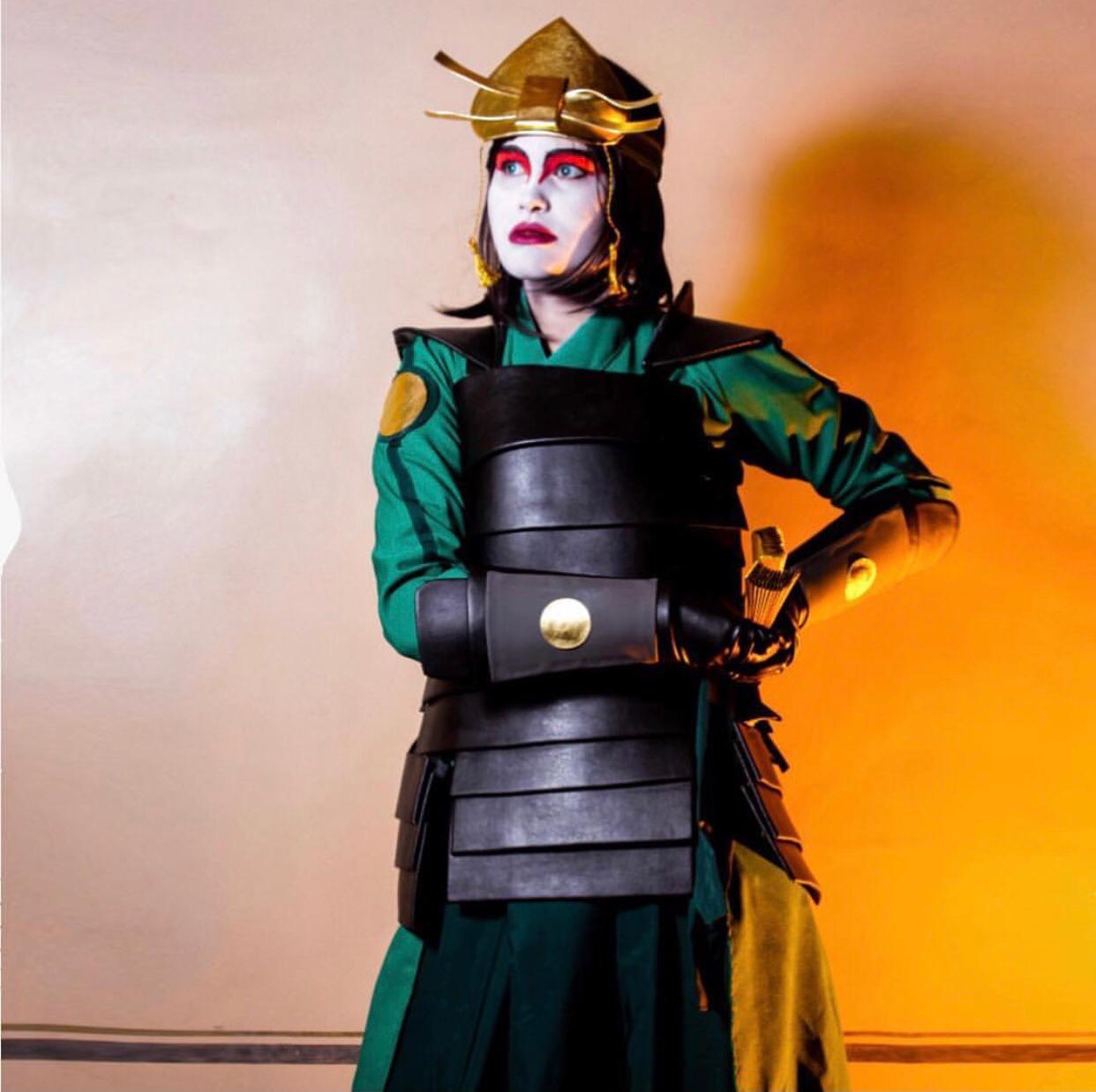 Cosplay suki guerreira kyoshi -avatar
