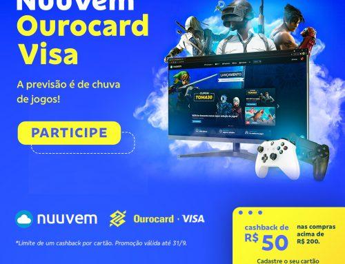 NUUVEM E VISA DÃO R$50 DE CASHBACK NA COMPRA DE JOGOS