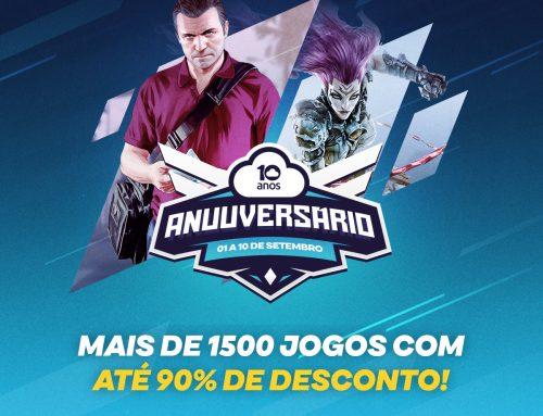 NUUVEM COMPLETA 10 ANOS COM SORTEIO GAMER E MAIS DE 1500 JOGOS EM OFERTA